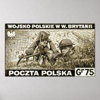 Ejército polaco de WWII en Inglaterra Posters