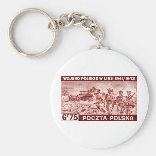 Ejército polaco de WWII en Libia Llaveros Personalizados