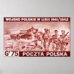 Ejército polaco de WWII en Libia Posters