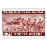 Ejército polaco de WWII en Libia Tarjetas