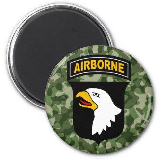 Ejército que grita Eagle Imán Redondo 5 Cm