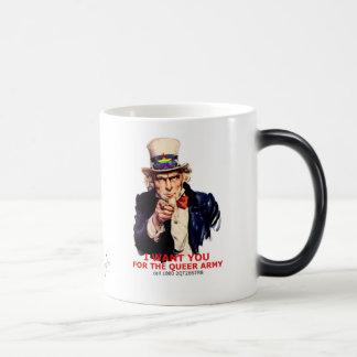 Ejército raro: tazas de café