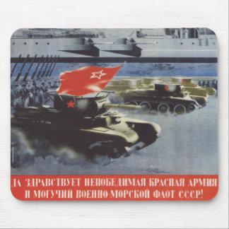 Ejército rojo mouse pad