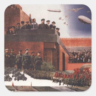 Ejército rojo pegatina cuadrada