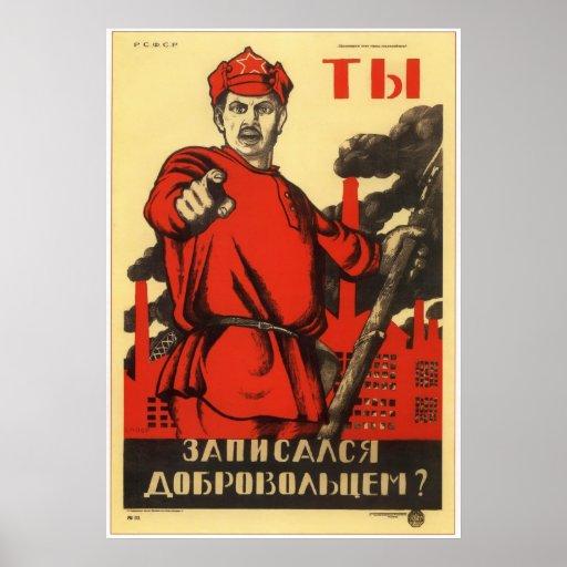 Ejército rojo soviético 1920 de URSS Posters