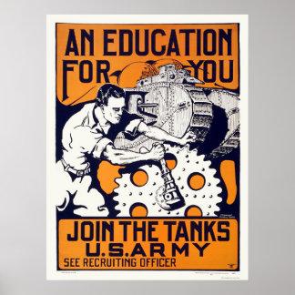 Ejército - únase a los tanques impresiones