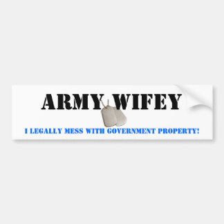 Ejército Wifey Pegatina Para Auto