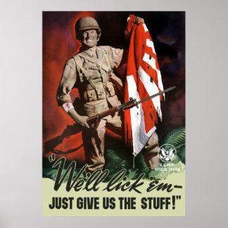 Ejército WW2 -- Los lameremos Póster