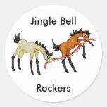 Ejes de balancín de Jingle Bell Etiquetas Redondas