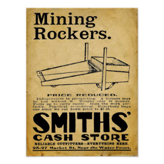 Ejes de balancín de la explotación minera - posters