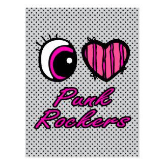 Ejes de balancín punkyes del amor del corazón I Postales
