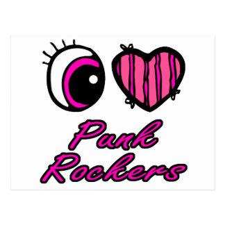 Ejes de balancín punkyes del amor del corazón I Tarjetas Postales