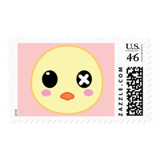 Ejiki the Chick Head Postage Stamp