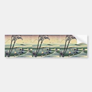 Ejiri de Sunshu por Katsushika, Hokusai Ukiyoe Pegatina Para Auto