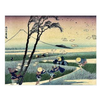Ejiri de Sunshu por Katsushika, Hokusai Ukiyoe Tarjetas Postales