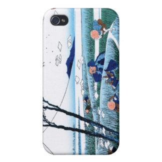 Ejiri en la provincia de Suruga Katsushika Hokusai iPhone 4 Cobertura