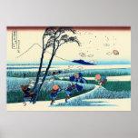 Ejiri en la provincia de Suruga, por Katsushika Ho Impresiones