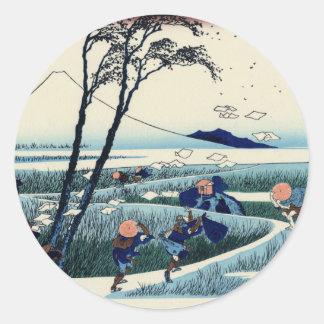 Ejiri in the Suruga Province Classic Round Sticker