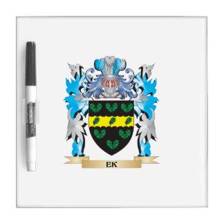 Ek Coat of Arms - Family Crest Dry Erase Whiteboards