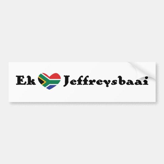 Ek *Heart* Jeffreysbaai (I *Heart* Jeffrey's Bay) Bumper Sticker