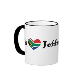 Ek *Heart* Jeffreysbaai (I *Heart* Jeffrey's Bay) Ringer Mug
