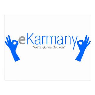 "eKarmany- ""We're Gonna Get You!"" Postcard"