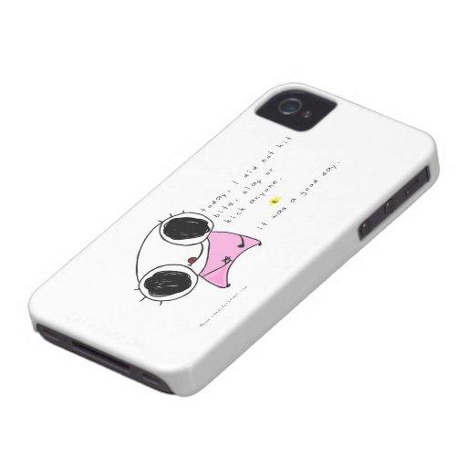 eke el caso del iphone: un buen día iPhone 4 Case-Mate protector