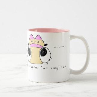 Eke mug: Vaginal Depression Two-Tone Coffee Mug