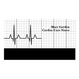 EKG Cardiac Care Nurse Medical Business Cards