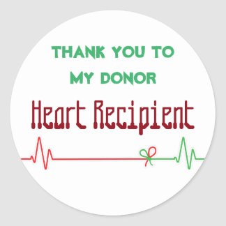 EKG Donor Heart transplant recipient customized Classic Round Sticker