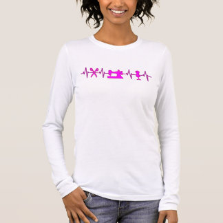 EKG Heart beats for sewing Long Sleeve T-Shirt
