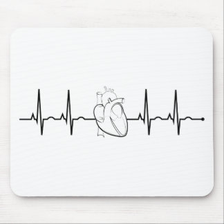 EKG Heart Mouse Pad