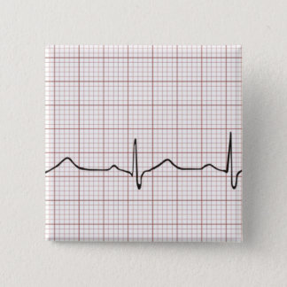 EKG heartbeat on graph paper, PhD (doctor) pulse Button