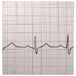 EKG heartbeat on graph paper, PhD (doctor) pulse Cloth Napkin