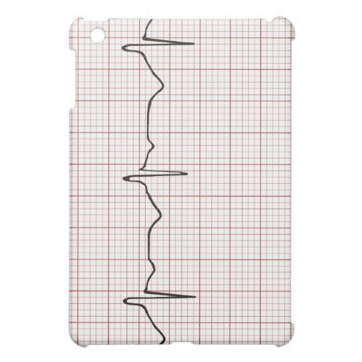 EKG heartbeat on graph paper, PhD (doctor) pulse iPad Mini Cases