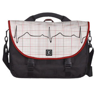 EKG heartbeat on graph paper, PhD (doctor) pulse Computer Bag