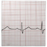 EKG heartbeat on graph paper, PhD (doctor) pulse Cloth Napkin