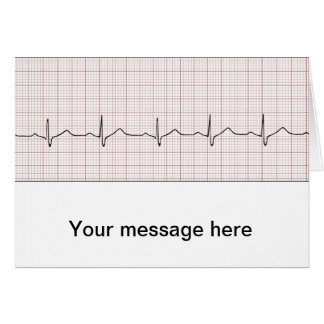 EKG heartbeat on graph paper pulse beating Cards
