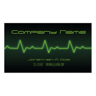 EKG Neon Double-Sided Standard Business Cards (Pack Of 100)