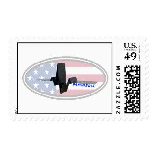 EKG Paramedic USA Stamp
