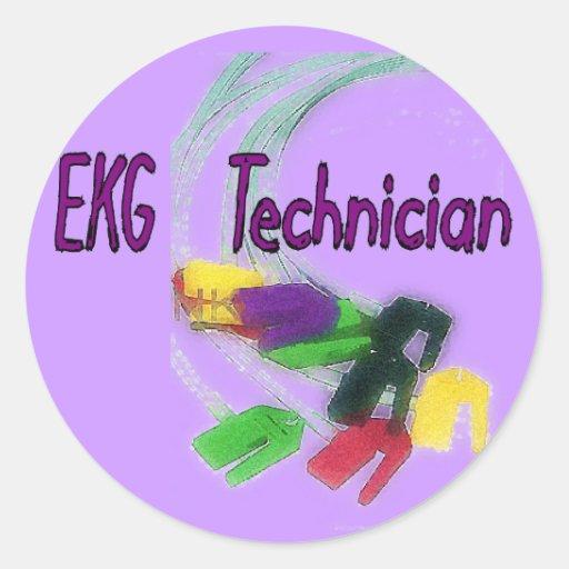 EKG Technician Gifts Classic Round Sticker