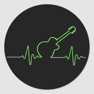 EKGuitar Classic Round Sticker