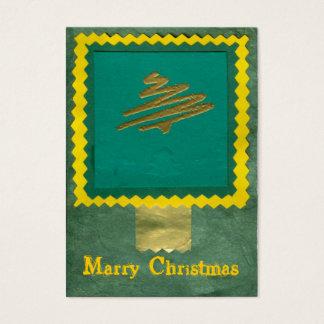 ekos green-yellow Merry Christmas Gift Tag