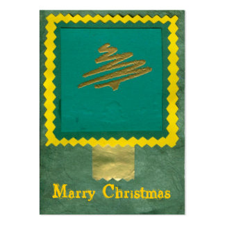 ekos green-yellow Merry Christmas Gift Tag Large Business Card