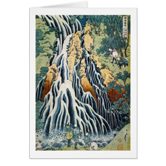 el きりふりの滝, 北斎 Kirifuri cae, Hokusai, Ukiyo-e Tarjeton