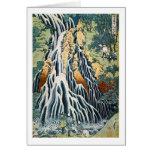el きりふりの滝, 北斎 Kirifuri cae, Hokusai, Ukiyo-e Tarjeta De Felicitación