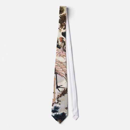el 松に鶴, 北斎 Cranes en el árbol de pino, Hokusai, Corbata Personalizada