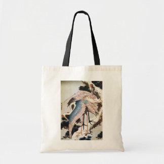 el 松に鶴, 北斎 Cranes en el árbol de pino, Hokusai, Uk Bolsas