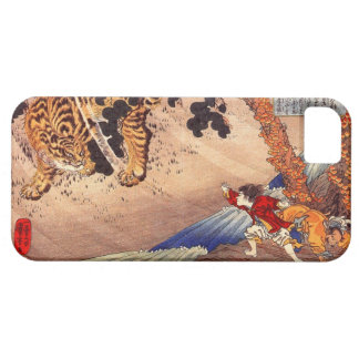 el 虎と闘う少年 muchacho lucha el tigre Kuniyoshi Uki iPhone 5 Case-Mate Cobertura