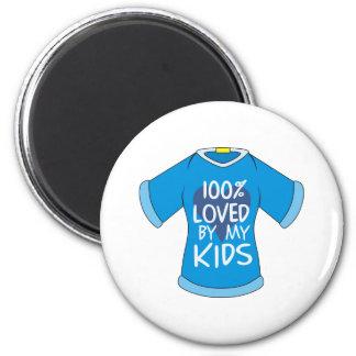 El 100% amado por mis niños imán redondo 5 cm